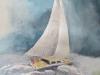 La mer et un voilier