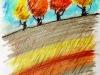 arbres automne pastel