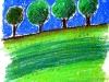 arbres pastel