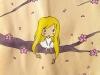 La fille et le cerisier