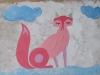 Le renard en collage