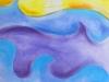 Le voilier en aquarelle et pastel sèche