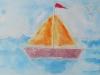 Le voilier en aquarelle