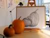 «Les citrouilles», graphite sur papier, 2011