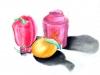 «La tangerine, le poivron et la boîte de thé», pastel sec, 2012