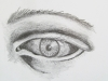 «L\'oeil», crayon de graphite