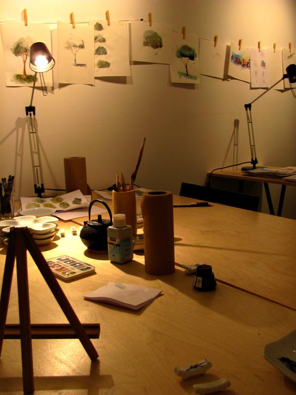 aux ateliers C... un soir d'aquarelle