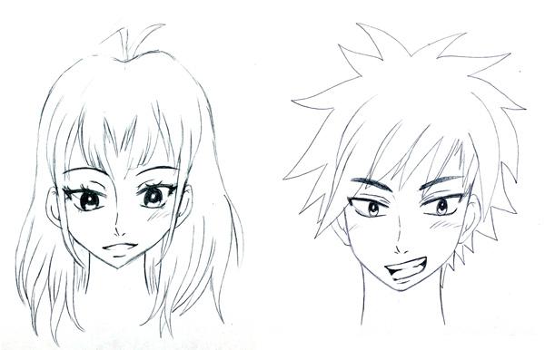 Deux têtes manga